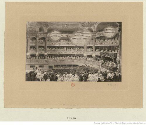 Représentation de gala à l'Opéra en l'honneur de la reine Victoria le 21 août 1855.