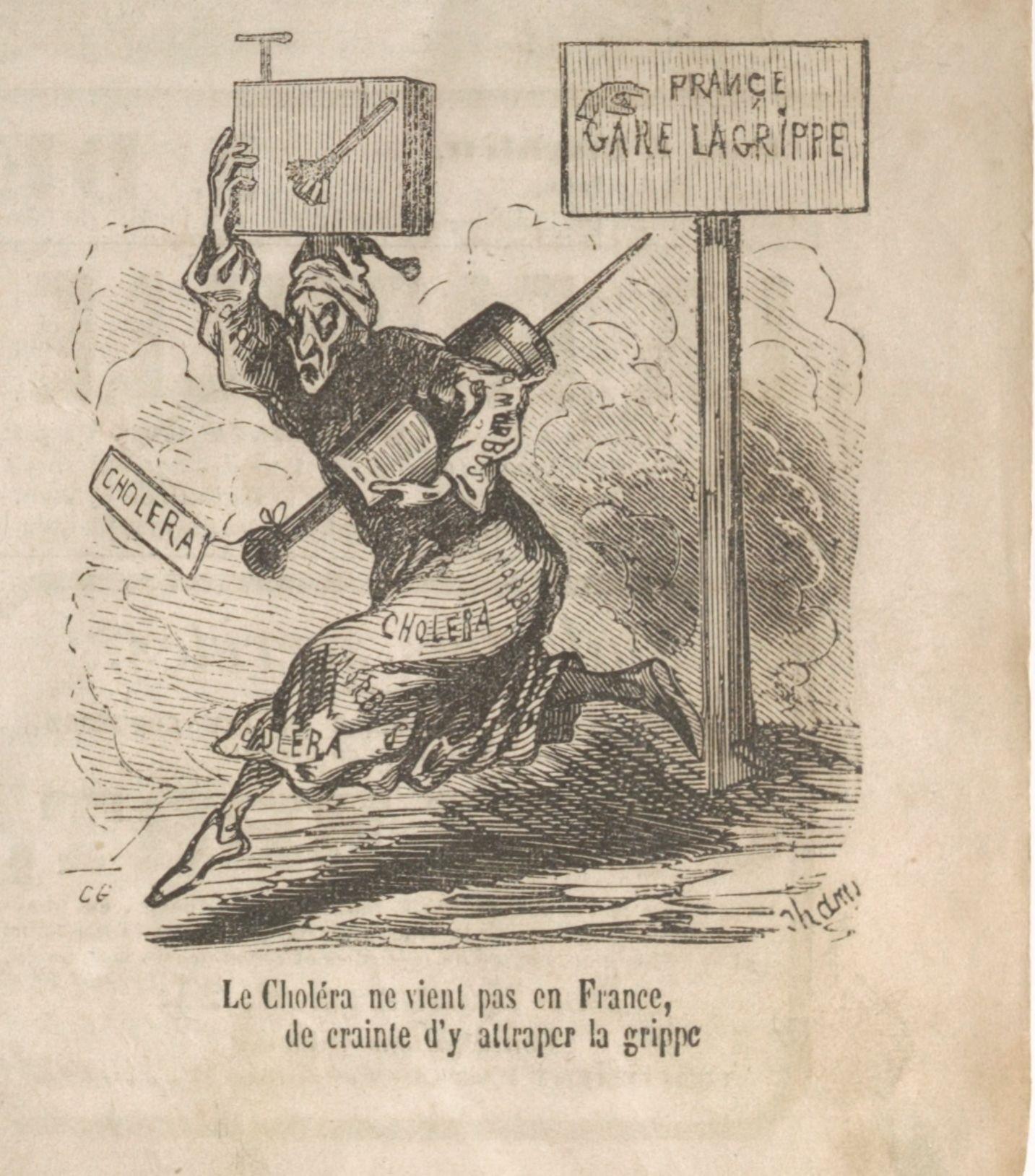 L'humour face aux épidémies – Partie I. Le Charivari, le choléra et la  grippe entre 1832 et 1870 | L'Histoire à la BnF