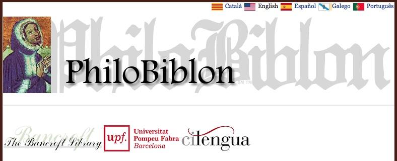 Página principal de PhiloBiblon