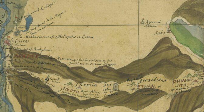 [Annulé] : Conférence en ligne mardi 16 mars 18h15 : «À la redécouverte de l'Égypte : la Carte des déserts de la Basse-Thébaïde de Claude Sicard et le Journal historique d'Henri-Joseph Redouté»