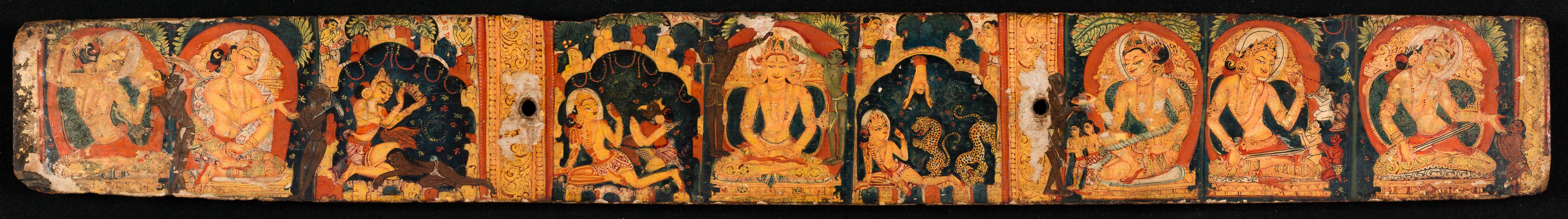 Ais représentant les Vies anterieures du buddha