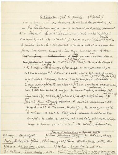 Image scannée du manuscrit de « L'Essai sur le Don »