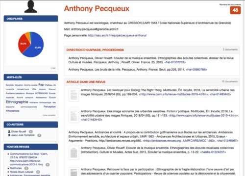 Figure 1 - CV général : https://cv.archives-ouvertes.fr/anthony-pecqueux