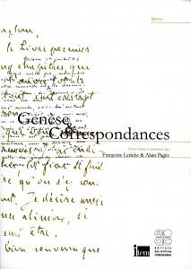 Couverture Genèse & Correspondances