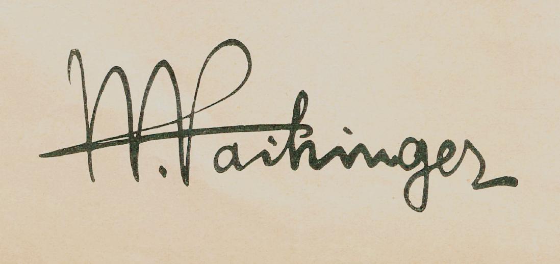 signature from vaihinger