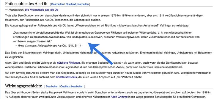 hans vaihinger wikipedia artikel
