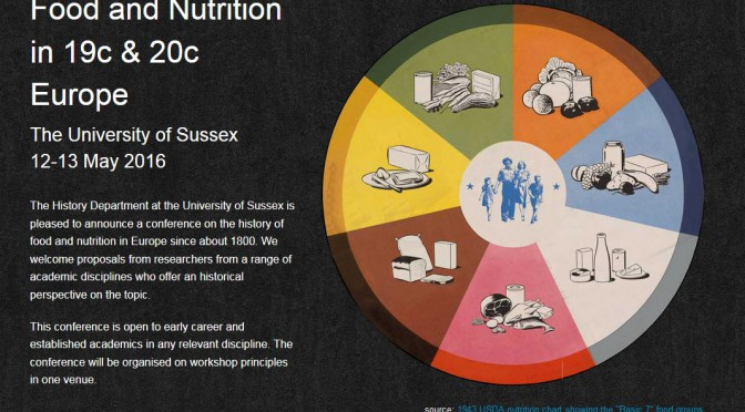 Food and Nutrition in 19c & 20c Europe