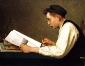Le jeune étudiant, 1894, Ozias Leduc, Musée des Beaux-arts du Canada, d'Ottawa.