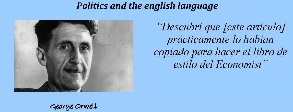Orwell y Politics and the english language