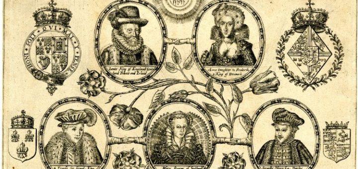 Arbre généalogique du roi James
