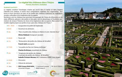 Le végétal des châteaux Séminaire l'Anjou
