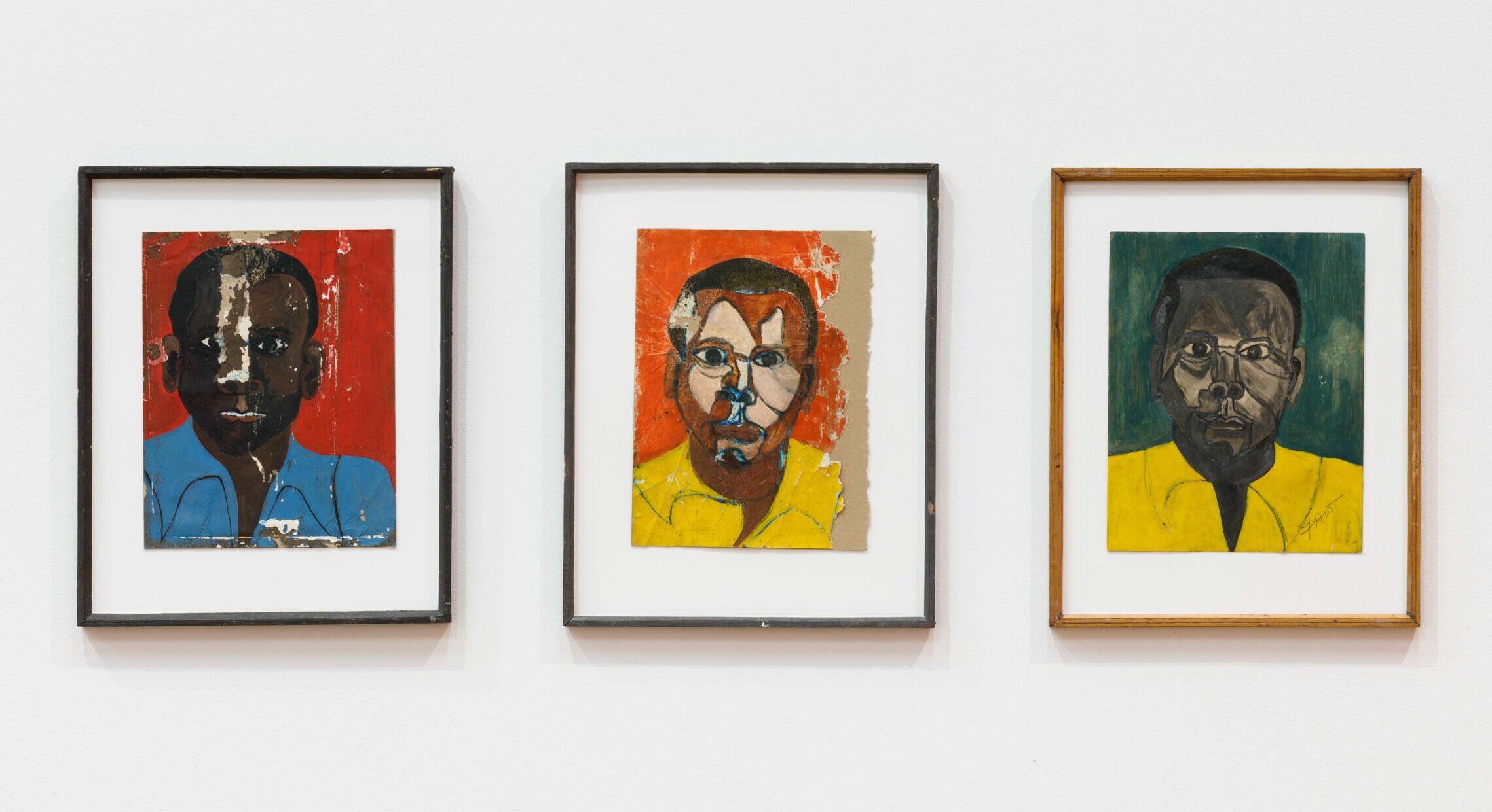 Die drei Selbstporträts im MMK Frankfurt von Frank Walter zeigen ihn zweimal als Schwarzen und einmal als Weißen Mann.