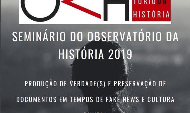 """Seminário do Observatório – """"Produção de verdade(s) e preservação de documentos em tempos de fake news e cultura digital"""""""