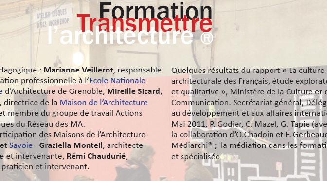 Caroline Mazel à la formation «Transmettre l'architecture»