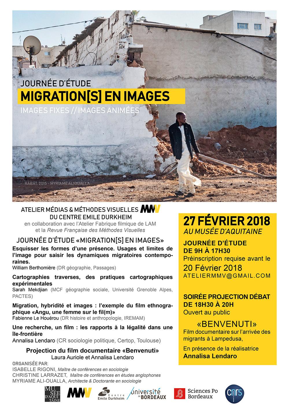 Journée d'étude Migration[s] en images | 27/02/2018 | Musée d'Aquitaine