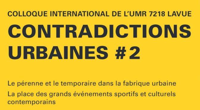 Caroline Chabot au colloque international de l'UMR LAVUE   6/12/2019