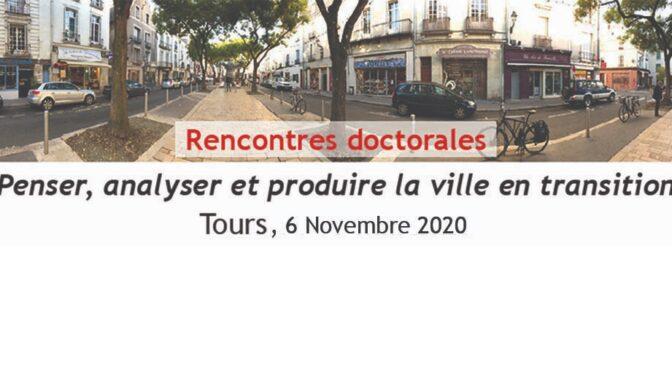 Louise Jammet aux rencontres doctorales de l'APERAU | 06/11/2020
