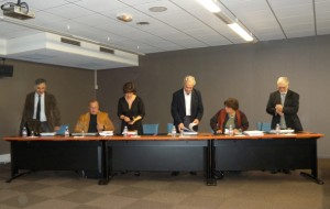 Les membres du jury de la thèse de Raphaelle Bourrillon, quelques minutes avant la soutenance.