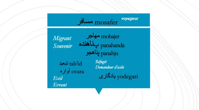 Dire, qualifier, transmettre… Les mots de l'exil des persanophones et des dariphones, 12 février 2020