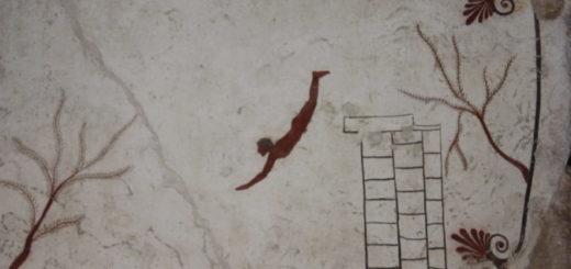 Crédits de l'image à la une : Tombe du plongeur, Musée de Paestum, Campanie, Juillet 2013, phogr. V. Ginouvès, peinture dans le domaine public, CC-BY-NC