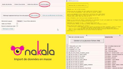 NAKALA / Import de données en masse