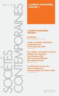Sociologie de l'agence financière. Vol 1 & 2