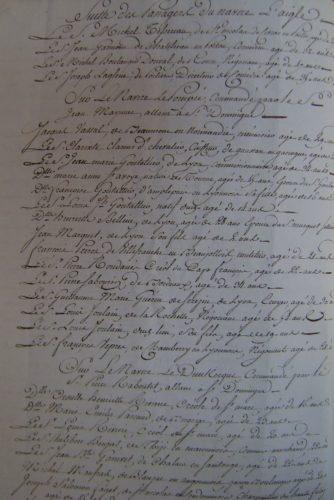 Liste des passagers de l'Aigle de Bordeaux (décembre 1789) (2)