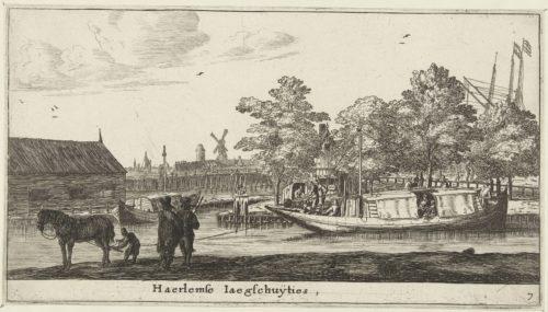"""Barge à Haarlem"", gravure par Reinier Nooms, 1652-1654"
