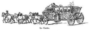 """Illustration dans Versailles illustré, """"Les voitures publiques à Versailles sous l'Ancien Régime"""" par Paul Fromageot, 1900"""