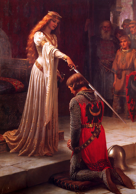L'Adoubement de Edmund Blair Leighton; 1901