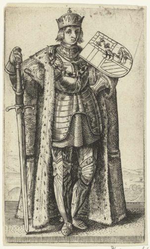 Portret van Filips de Schone, hertog van Bourgondië; Graven en gravinnen van Holland