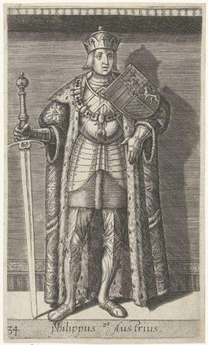 Portret van Filips de Schone, hertog van Bourgondië; Philippus Austrius