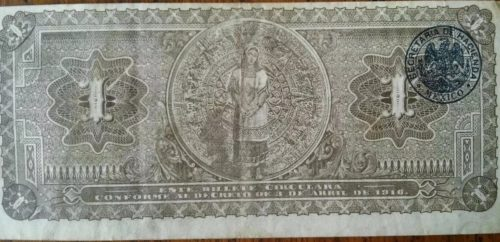 Revers 1 peso 1916