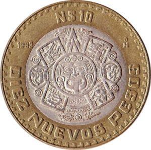 Revers 10 nuevos pesos