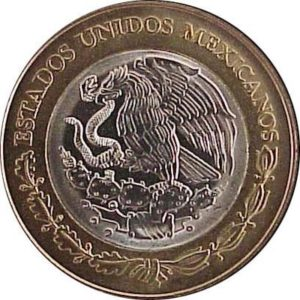 Avers 100 pesos 1996 : Campeche