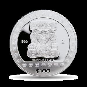 100 pesos 1992 : Huehueteótl