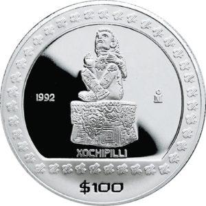 100 pesos 1992 : Xochipilli