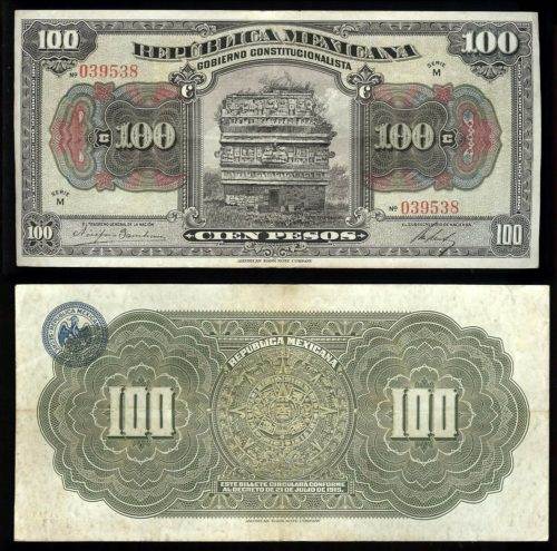 100 pesos 1915