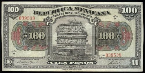 Avers 100 pesos 1915