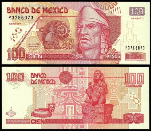 100 pesos Nezahualcoyolt / Xochipilli