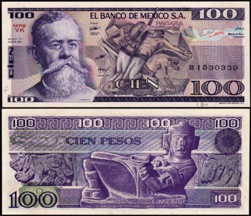 100 pesos 1964-1982