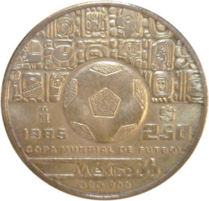 250 pesos : copa mundial de futbol