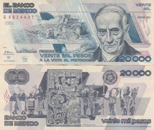 20000 pesos 1988
