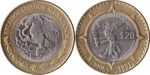 20 pesos Xiuhtecuhtli