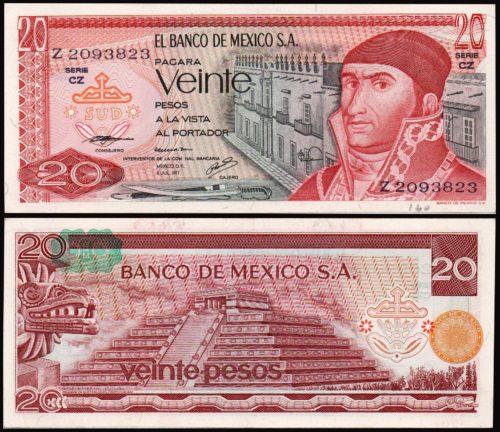 20 pesos 1972-1977