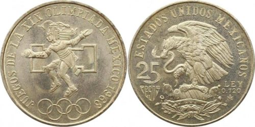 25 pesos 1968