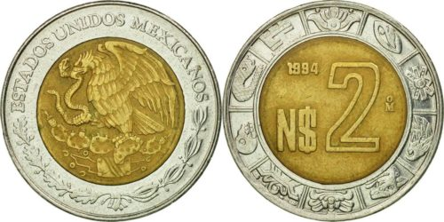 2 nuevos pesos 1992-1995