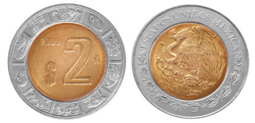 2 pesos