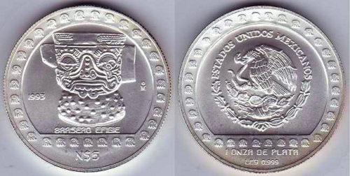 5 nuevos pesos 1993 Brasero Efigie