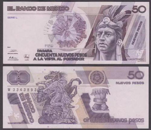 50 pesos 1992